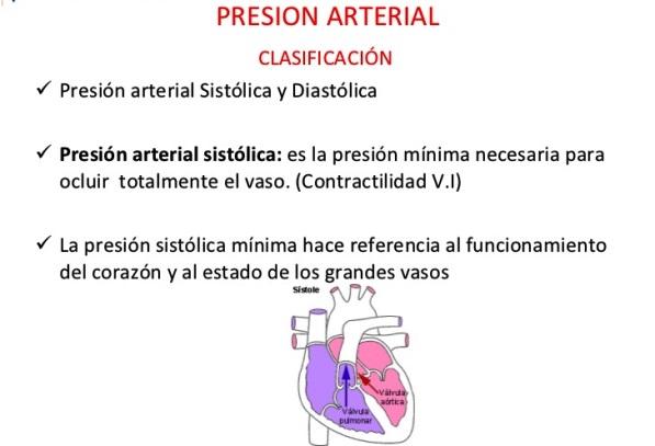 ¿Qué es la presión sistólica?